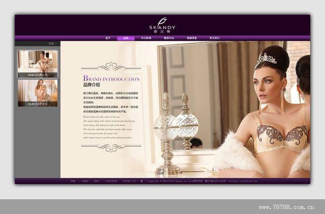 紫兰蒂内衣品牌网站案例展示1